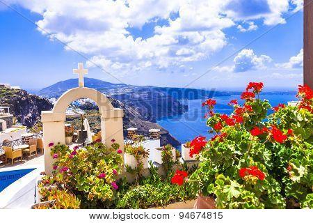 Romantic holidays . Santorini island