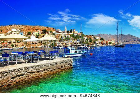 beautiful Greek island Symi. Dodecanes