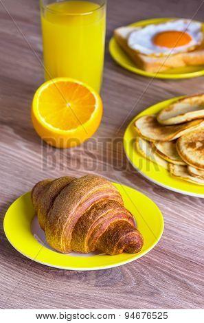 Croissant With Orange Juice