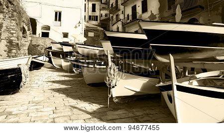 Rowing Boats - Riomaggiore Liguria Italy