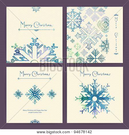 Set Of Holiday Christmas Cards