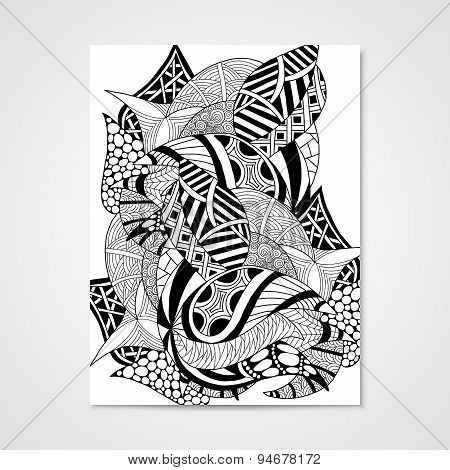 Abstract hand-drawn pattern.