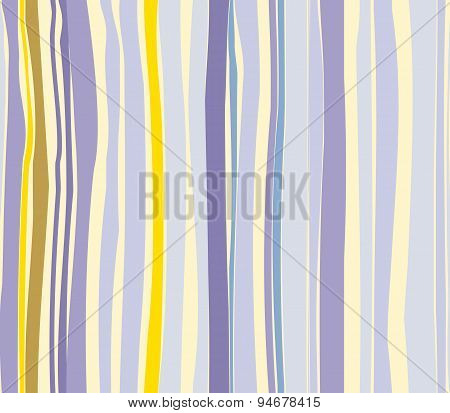 Hand-drawn Abstract Seamless Pattern. Colorful Random Stripes In Yellow And Violet