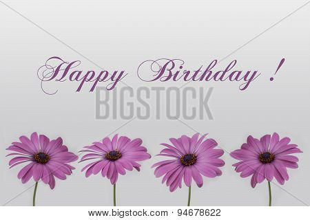happy birthday card flower decoration