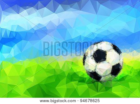 Soccer Ball in Stadium. Vector