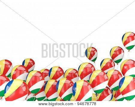 Flying Balloons With Flag Of Seychelles