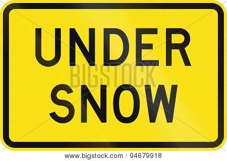 Under Snow In Australia