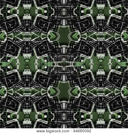 Futuristic Tech Geometric Pattern