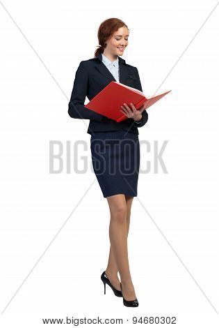 Businesswoman with book