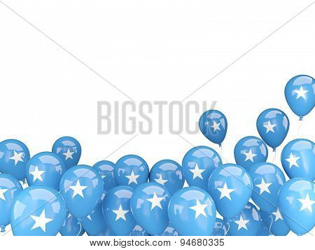 Flying Balloons With Flag Of Somalia