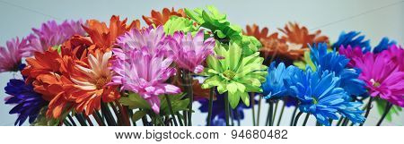 An Arrangement Of Colorful Gerbera Daisy Flowers