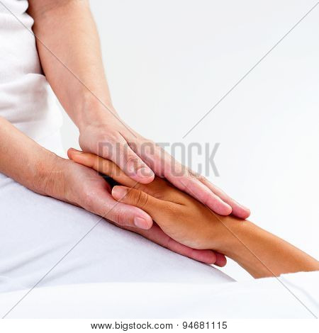 Therapist Hands Doing Reiki.