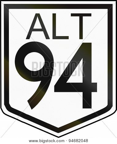 Australian Alternative National Route Shield 94