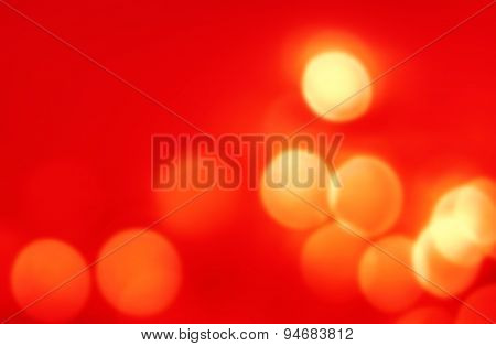 Abstract Christmas Background With Gold Bokeh Lights  And Place For Text. Beautiful Festive Textured