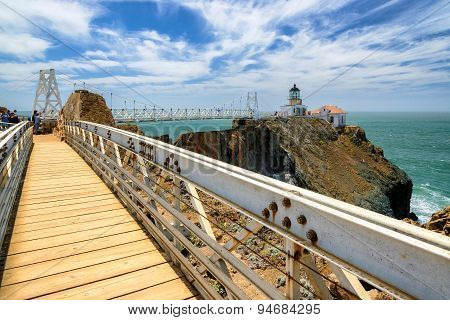 The bridge to Lighthouse on the rock, Point Bonita Lighthouse