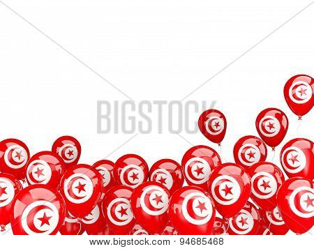 Flying Balloons With Flag Of Tunisia