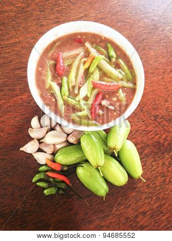 Sauce Of Shrimp Paste And Chili