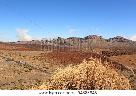 desert landscape with blue sky