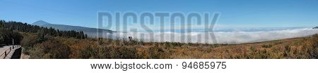 Mountain landscape panorama -sky above the