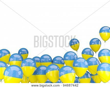 Flying Balloons With Flag Of Ukraine