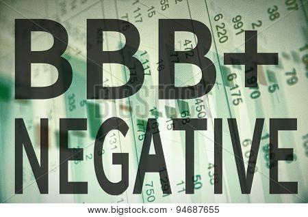 BBB+ negative