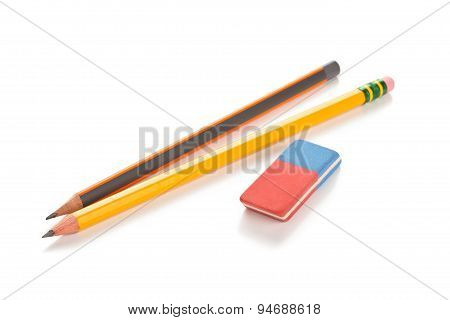 Pencils And Eraser.