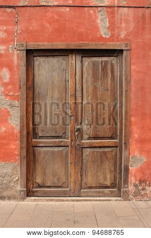 old wooden door - vintage wood door