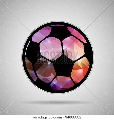 Abstract Creative concept vector icon of Ball football for Web and Mobile Applications isolated on b