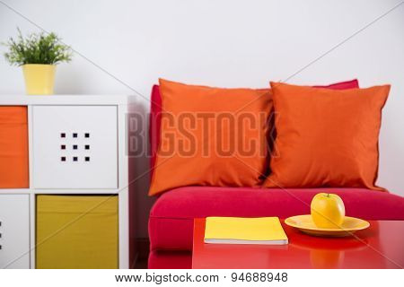 Armchair In Study Room