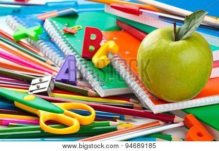 School Supplies Background.