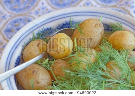 Potato And Dill In A Bowl