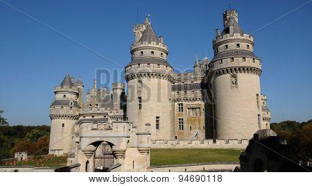 France, Castle Of Pierrefonds In Picardie