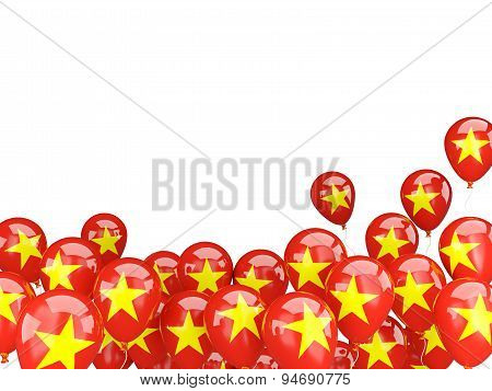 Flying Balloons With Flag Of Vietnam