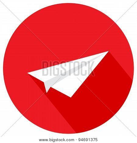 Paper Plane. Vector Illustration Of A Flat Design.