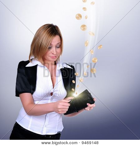 Young Girl With A Wallet