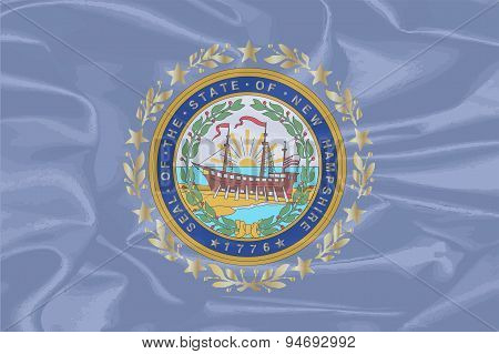 New Hampshire Silk Flag