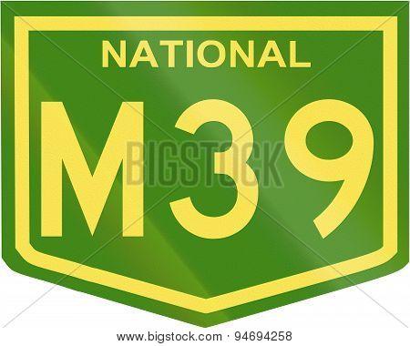 Australian National Highway Number M39