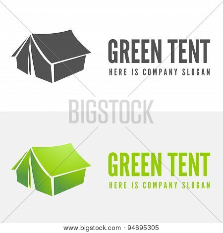 Modern camp badge, logo, emblem and logotype elements for camping, web, business or other projects