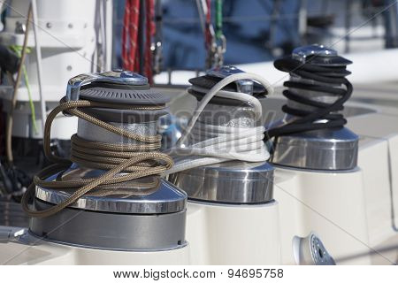 Technical components of a sailboat.