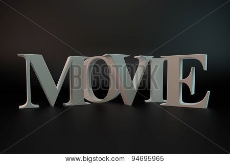 Movie Text Sign