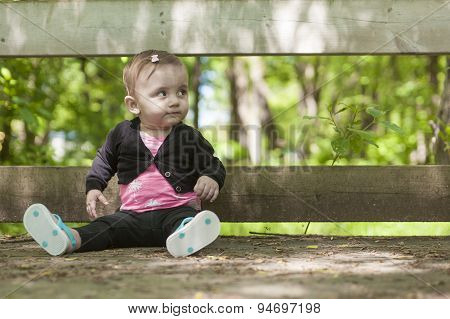 baby sitting forest