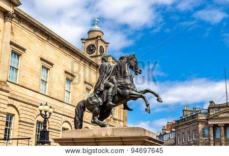 Duke Of Wellington Statue. In Edinburgh - Scotland