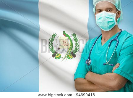 Surgeon With Flag On Background Series - Guatemala