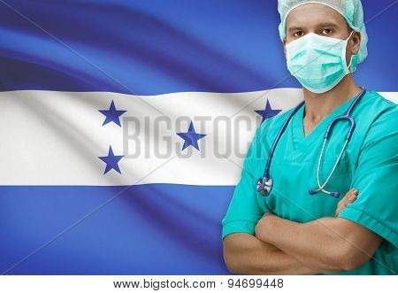 Surgeon With Flag On Background Series - Honduras