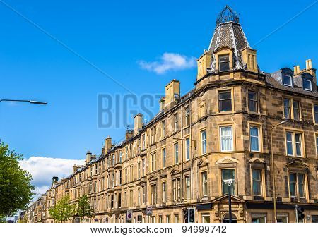 Residential Buildings In South Leith District Of Edinburgh - Scotland