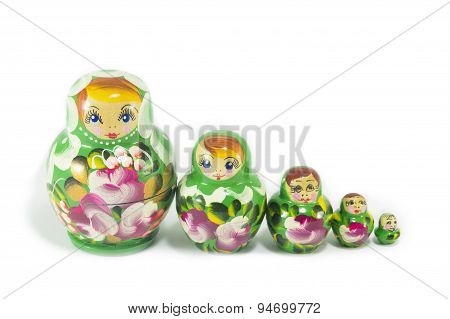 Russian Dolls Isolated