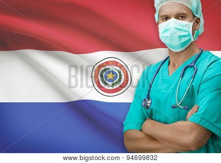 Surgeon With Flag On Background Series - Paraguay