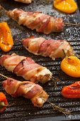 picture of grill  - Grilled bacon - JPG