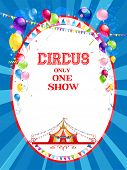 picture of stratus  - Circus poster with balloons for advertising - JPG