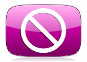 image of denied  - access denied violet icon   - JPG